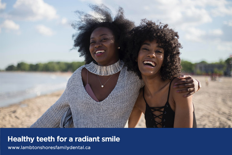 Healthy teeth for a radiant smile